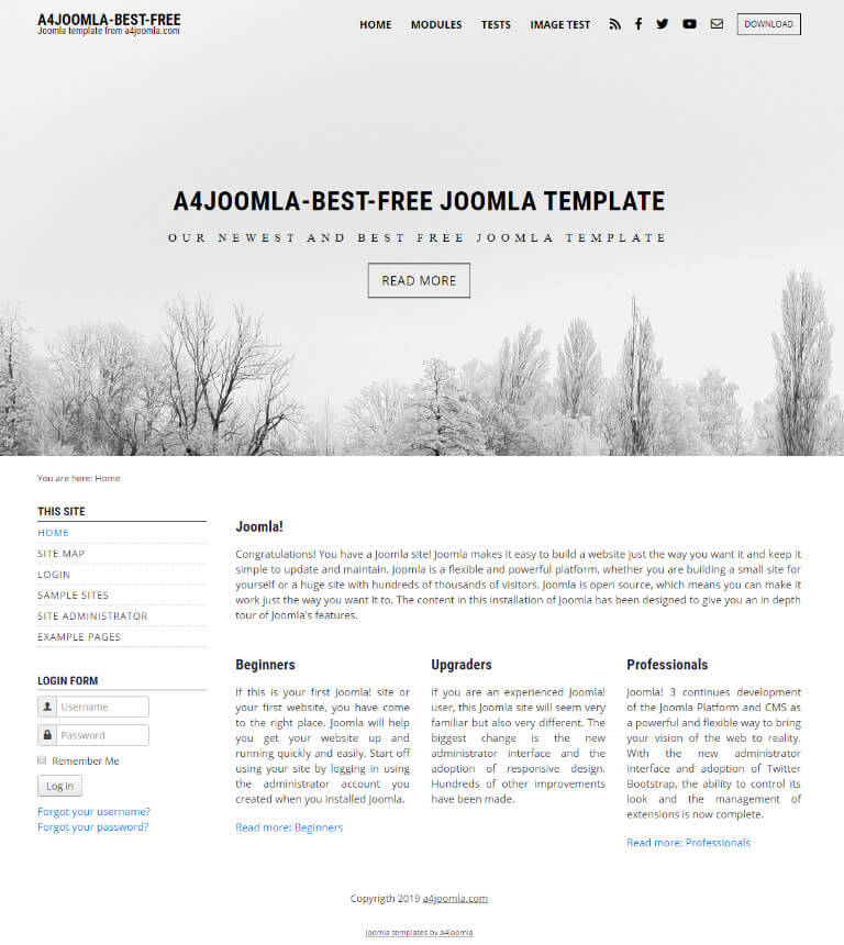 Best free joomla template