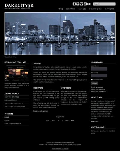 professional and free joomla templates a4joomla responsive free joomla 3 3 7 template a4joomla
