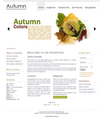 Free joomla 2.5 template with slideshow: a4joomla-autumn-free