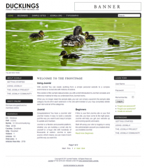Free joomla 2.5 template with slideshow: a4joomla-ducklings-free