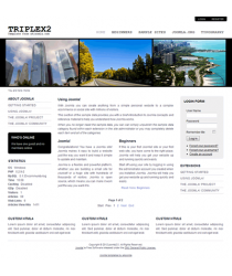 Pro minimalist joomla 2.5 template with slideshow: a4joomla-Triplex2