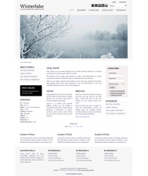 Pro joomla 2.5 template with slideshow: a4joomla-Winterlake